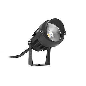 LED 1 luz al aire libre Spotlight negro IP65