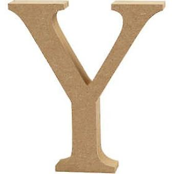 13cm Large Wooden MDF Letter Shape to Decorate - Y | Wood Shapes for Crafts