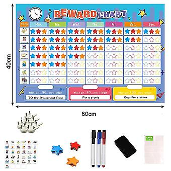 Magnetic Reward Activity Chart & Time Schedule Calendar Good Habit Planner Educational Toys For Children Gifts