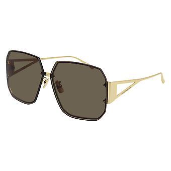 Bottega Veneta Asian Fit BV1085SA 002 Gold/Brown Sunglasses
