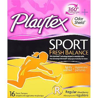Playtex Sport Fresh Balance Tampon, Regular Scented, 16 ea