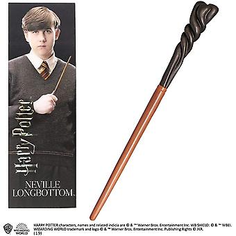 Noble Collection PVC Neville Longbottom Baguette magique & Ensemble de signets