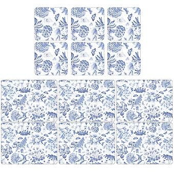 Pimpernel Botanische Blauwe Placemats en Coasters