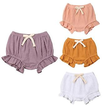3-18m Infant Baby Solid Pants Shorts Bottoms Pp Bloomers Panties