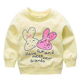 Nou-născut Baby Cartoon Print Bumbac Round-gât Sweatshirt Baby Hoodies