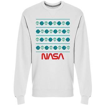 Чужеродных НАСА и планет зимний рисунок графический мужчины Толстовки