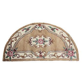 Lotus Premium Aubusson tæppe-Halvmåne-fawn