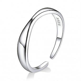 Sterling Silber Ring Einfachheit - 6874
