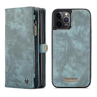 CASEME iPhone 12 Pro Max Retro LompakkoKotelo - Sininen