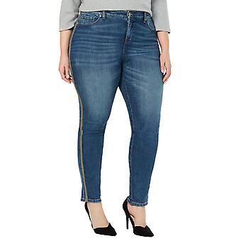 Stil og co | Plus Metallic Denim Skinny Jeans