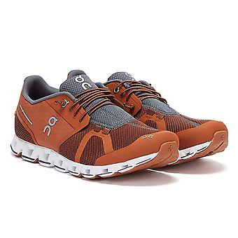 On Running The Cloud Mens Cocoa Brown Trainers