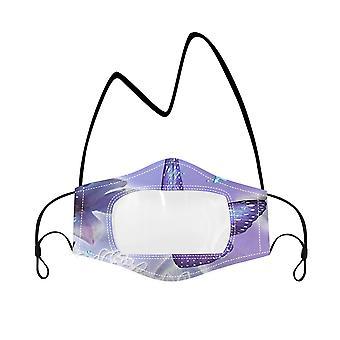 YANGFAN døv ansiktsmaske med klart vindu synlig uttrykk