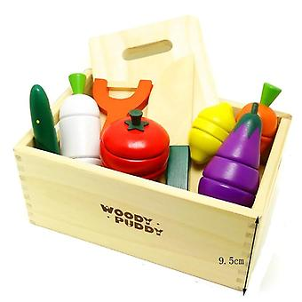 Montessori Cut Fruits And Vegetables Wooden Classic Game
