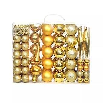 113-tlg. Weihnachtskugel-Set 6 cm Golden