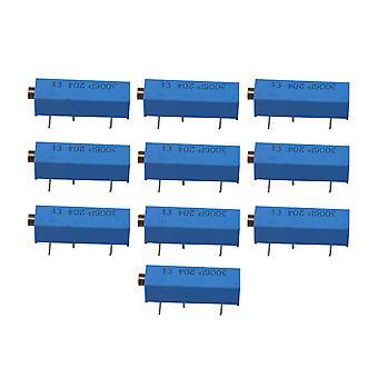 10pcs 200K Ohm High Precision Variable Resistors Multiturn Potentiometer