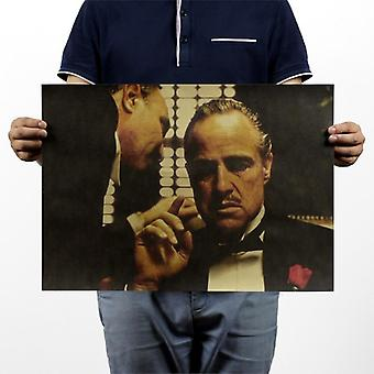 The Godfather Vintage Kraft Paper Movie Poster Bar Decorative Painting