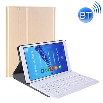 A0M5 Irrotettava Bluetooth-näppäimistö + Ultrathin vaakasuora flip nahkakotelo Huawei MediaPad M5 & Honor Tab 5 8 tuumaa, haltija (kulta)