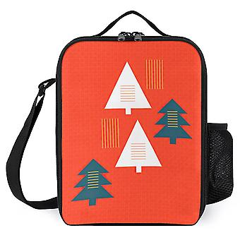 Minimal Christmas Printed- Reusable Insulated Lunch Box