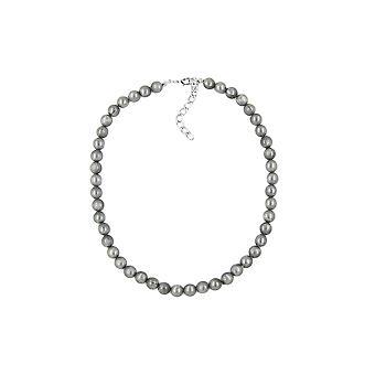 halskjede silkeaktig glitrende lys grå perler