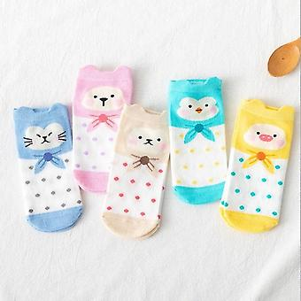 Summer Cartoon Cat Fox Rabbit Cute Animal Ankle Socks
