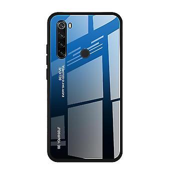 Mirror Gradient Tempered Glass Case For Redmi Note 9 Pro