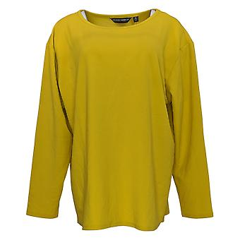 BROOKE SHIELDS Timeless Women's Top XLLong Sleeve Knit Top Green A341965