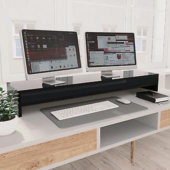 Monitor stand high gloss black 100×24×13 cm chipboard
