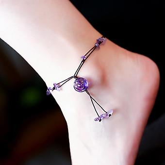 Braided Anklets  Stone Beads Chain