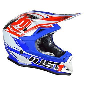 Just1 J32 Pro Rave Adults ACU Gold MX Helmet - Red