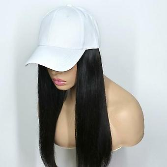 Hat Brazilian Remy Hair With Straps 180% Density Straight Human Hair