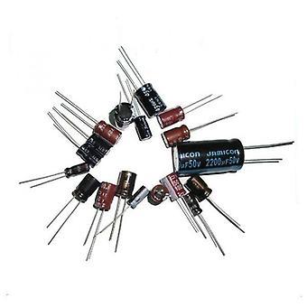 Aluminium Kondensator Alle Værdi 6.3v / 10v / 16v / 25v / 35v / 50v / 100v / 250v