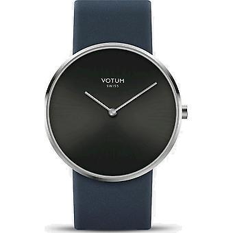 VOTUM - Reloj de señoras - CÍRCULO - Puro - V01.10.10.02 - correa de cuero - azul
