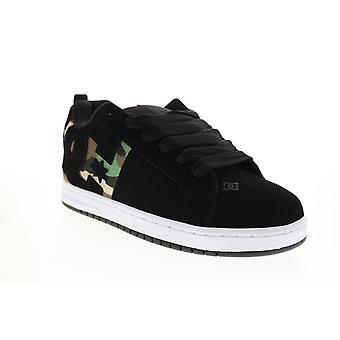 DC Court Graffik Sq  Mens Black Skate Inspired Sneakers Shoes
