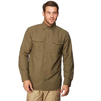 New Peter Storm Men's Long Sleeve Travel Shirt Green