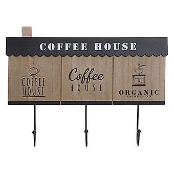 Vægmonteret bøjle Dekodonia Coffee Wood Metal (31 x 4 x 23 cm)