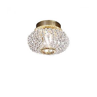 Foco De Diseño En Cristal De Oro Carla De 24 Quilates 1 Bombilla
