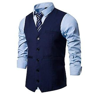 Chalecos hombres traje elegante casual sin mangas chaleco vintage formal blazers chaleco
