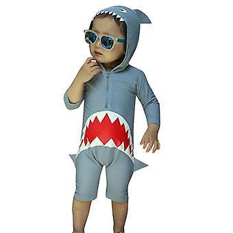 Maillot de bain à capuchon de requin à capuchon de requin à manches longues de chéri