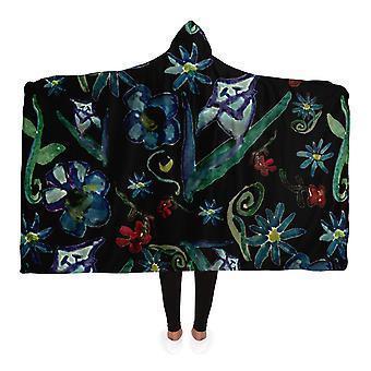 Animal pattern hooded blanket
