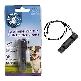 1 x Two Tone Dog Puppy Training Whistle Léger 2 Animaux de compagnie 2 Commandes Apprentissage
