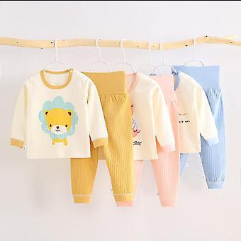 Sleepwear dla noworodków Odzież dziecięca Sleepwear Cartoon Print, Piżamy dla dziecka