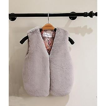 Outerwear Faux Fur Vest Sleeveless Coat