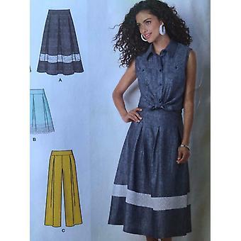 بساطة نمط الخياطة 1464 السيدات يفتقد تنورة السراويل قصيرة حجم السراويل 12-20 Uncut