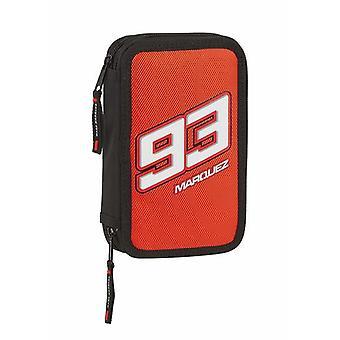 Double Pencil Case Marc Marquez Black Red (28 pcs)