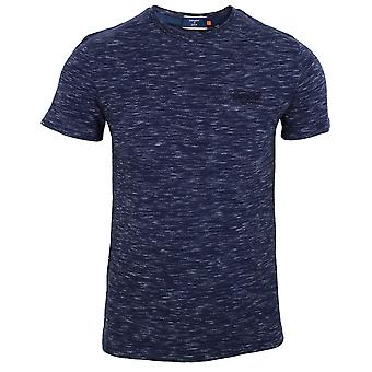 Superdry men's mariner navy space dye t-shirt