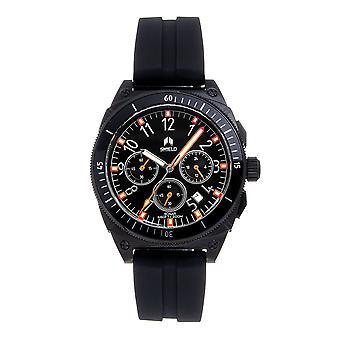 Shield Sonar Chronograph Strap Watch w/Date - Black