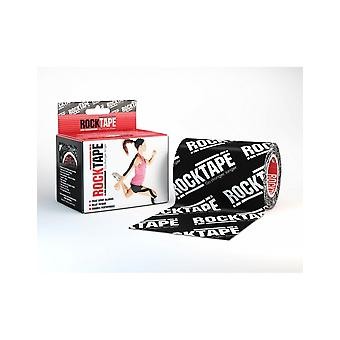 Rocktape Mini Big Daddy Rolls Adhesive Kinesiology Tape 10cm x 5m - Logo Black