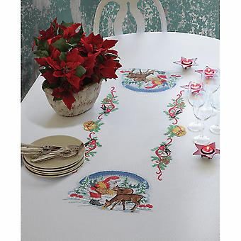 Anchor Cross Stitch Kit: Deer Suppers: Tablecloth