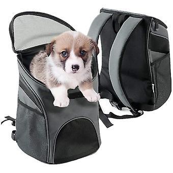 Hund Rucksack Pet Cat Welpen Träger Reisetasche Stoff Schultergurte