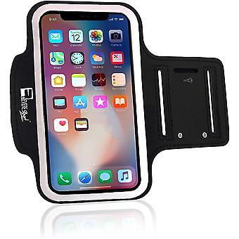 FengChun Sportarmband kompatibel iPhone X/XS. Armband Telefon Handyhalter Case für Laufen, Workout,